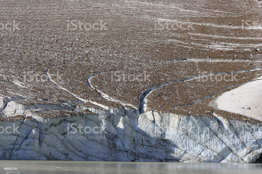 Thick Ice of Glacier royalty-free stock photo