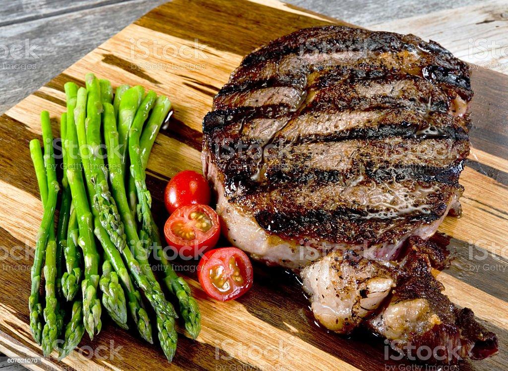 Thick Rib Eye Steak. stock photo