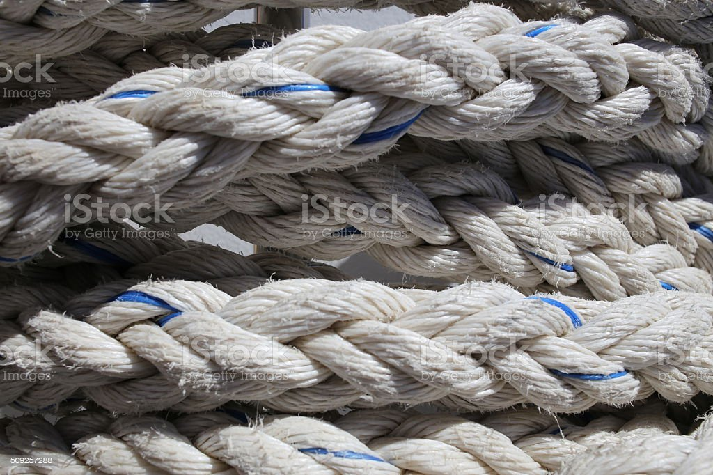 Thick Rope background lines curl stock photo