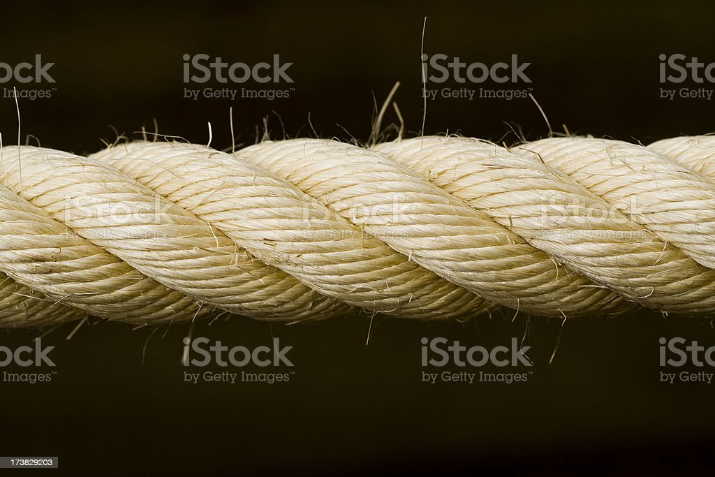 Thick rope royalty-free stock photo