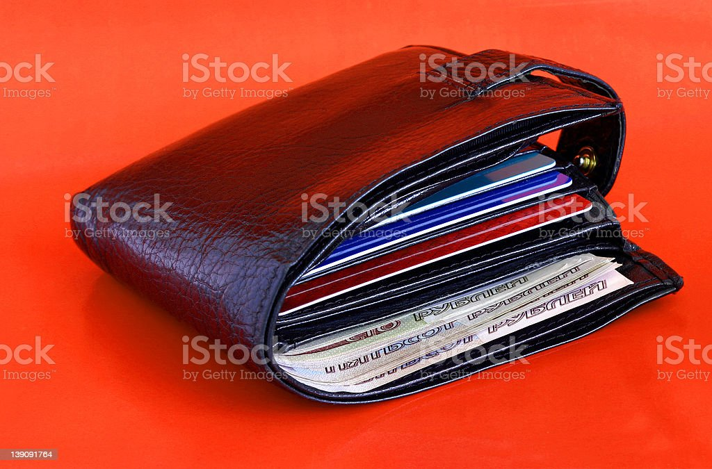 Thick Wallet royalty-free stock photo