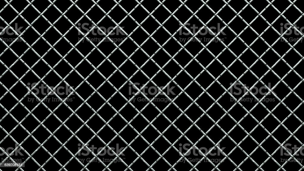 Thick Wire Railing Isolated on Black stock photo