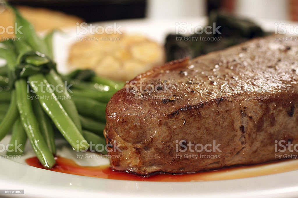 thickness steak royalty-free stock photo