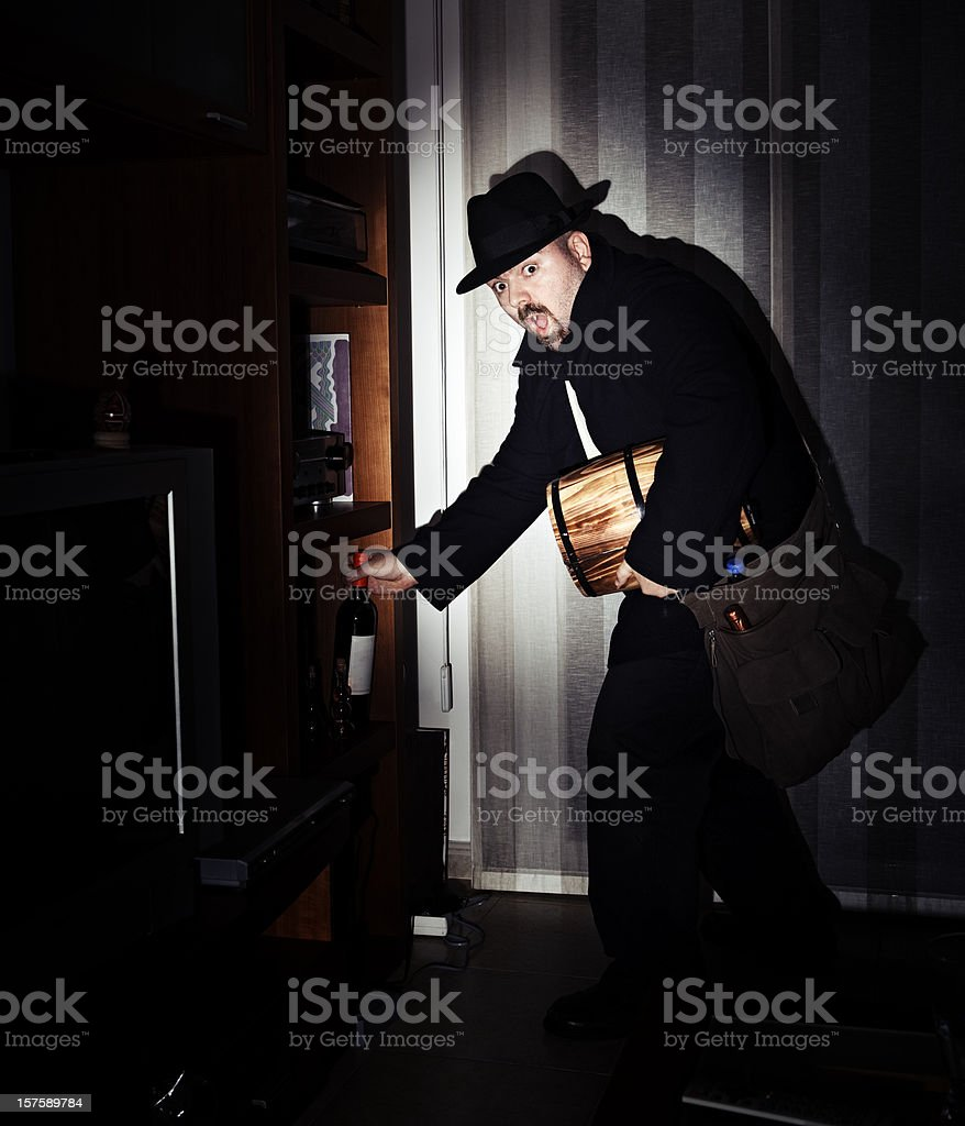 Thief Caught stock photo