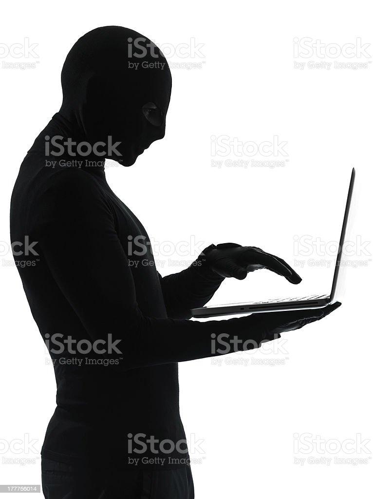 thief criminal computer hacker royalty-free stock photo