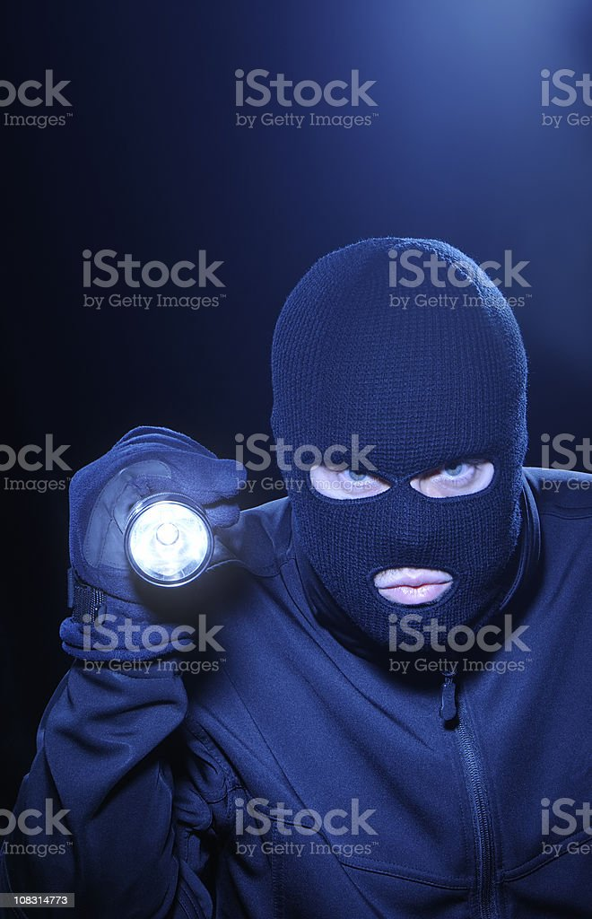 Thief in the night royalty-free stock photo