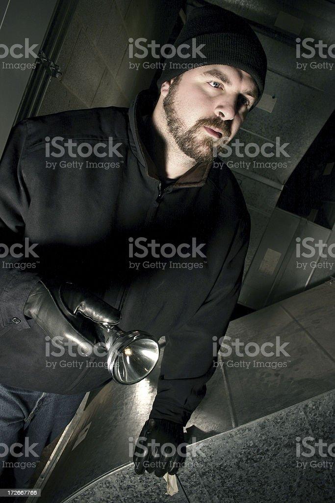 Thief stock photo