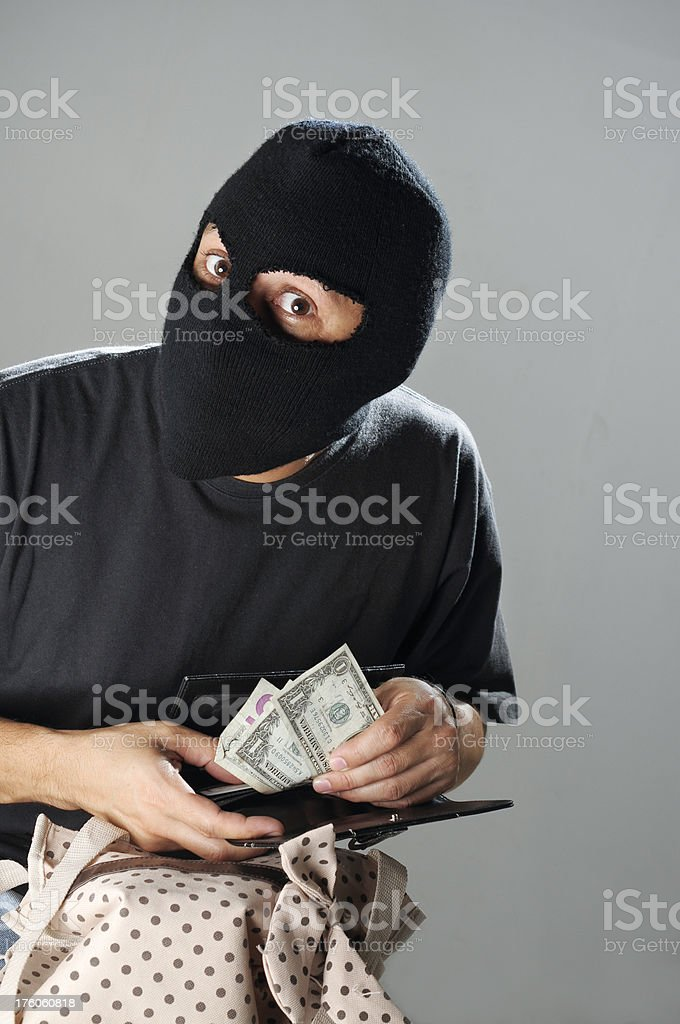 Thief stock photo