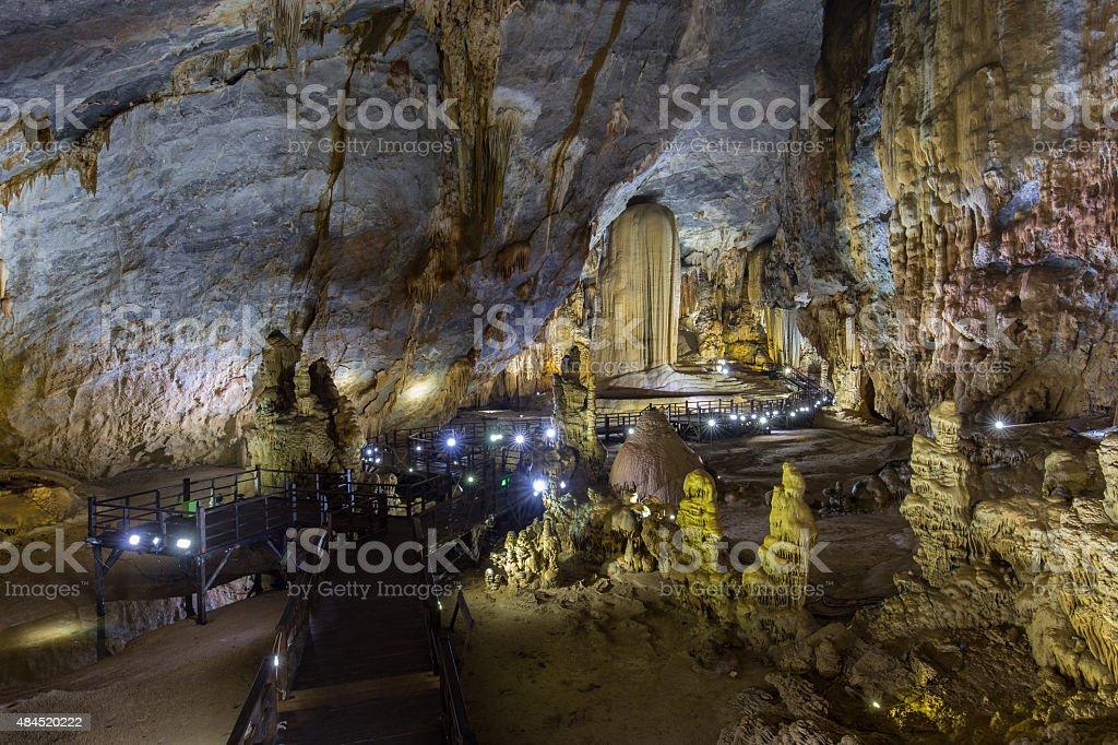 Thien Duong Cave (Paradise Cave) in Phong Nha-Ke Bang royalty-free stock photo