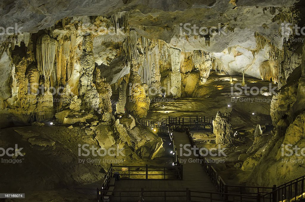 Thien Duong Cave (Paradise Cave) royalty-free stock photo