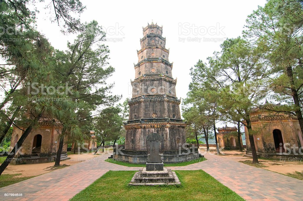 Thien Mu Pagoda, Hue city, Vietnam stock photo