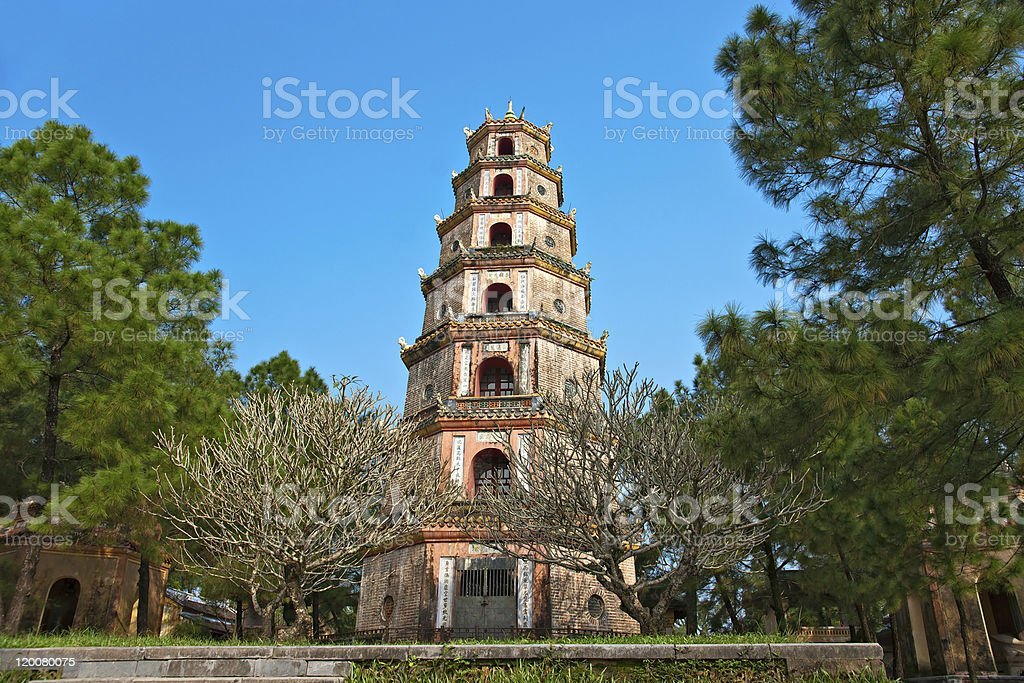 Thien Mu Pagoda In Hue, Vietnam stock photo