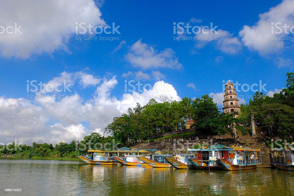 Thien Mu Pagoda In Hue, Vietnam stock photo