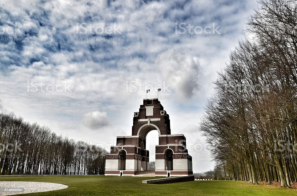 Thiepval Memorial to the Missing, Somme stock photo