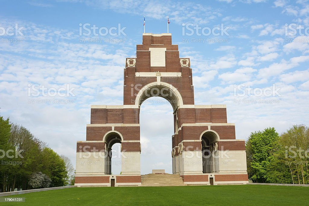 Thiepval War Memorial stock photo