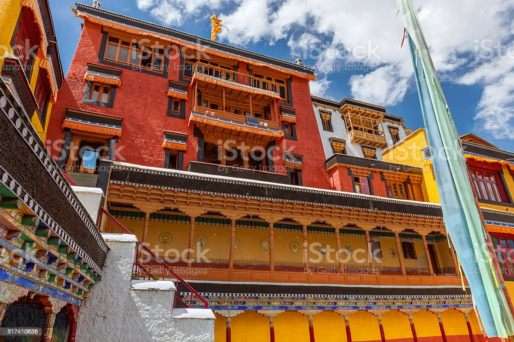 Thikse Monastery in Indus Valley Ladakh,Tibet,Kashmir,India stock photo
