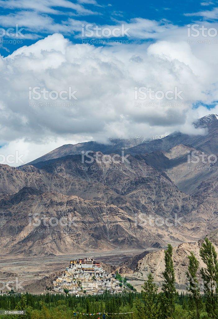 Thikse Monastery near Leh, Ladakh, India stock photo