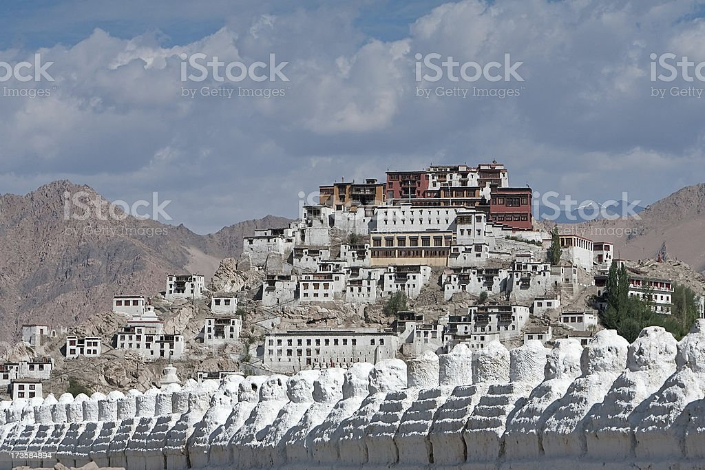 Thiksey Gompa royalty-free stock photo