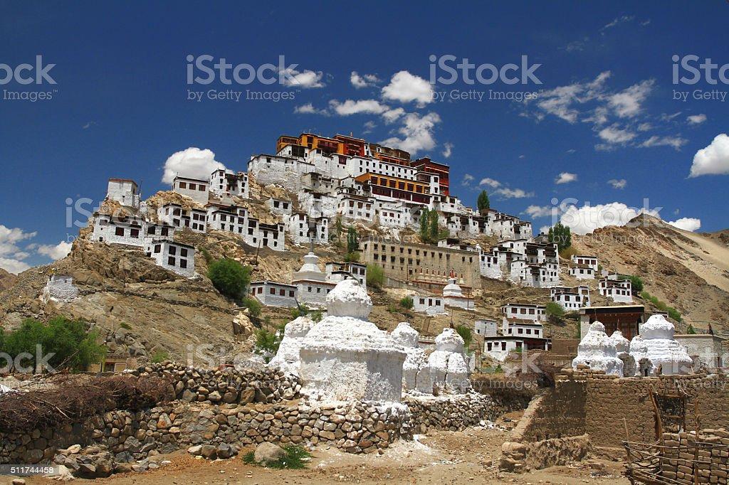 Thiksey monastery in Leh stock photo