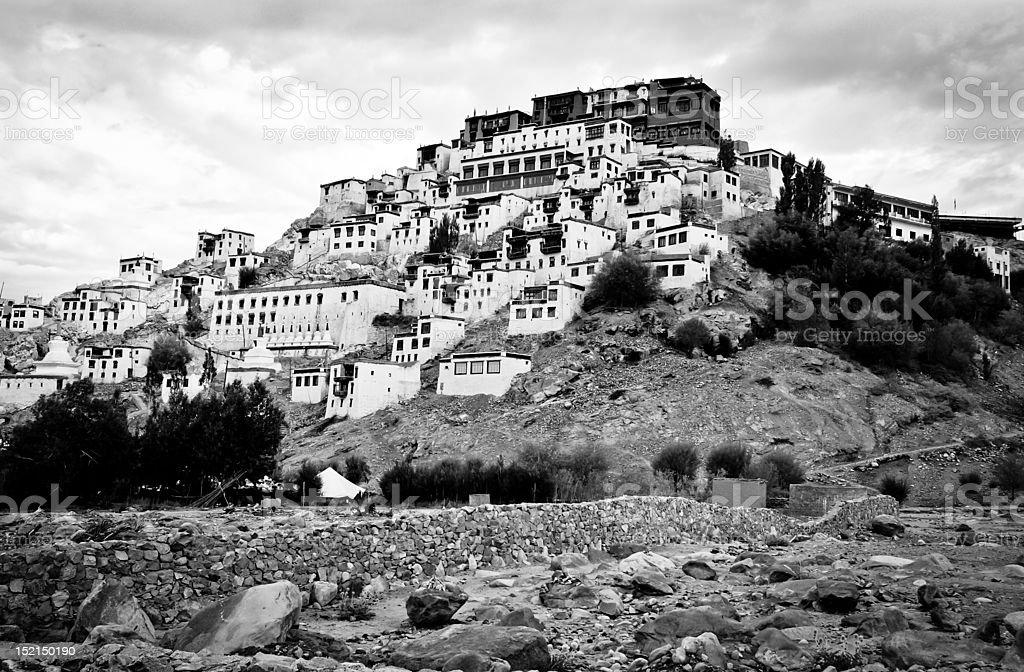 Thiksey Monastery, Ladakh royalty-free stock photo