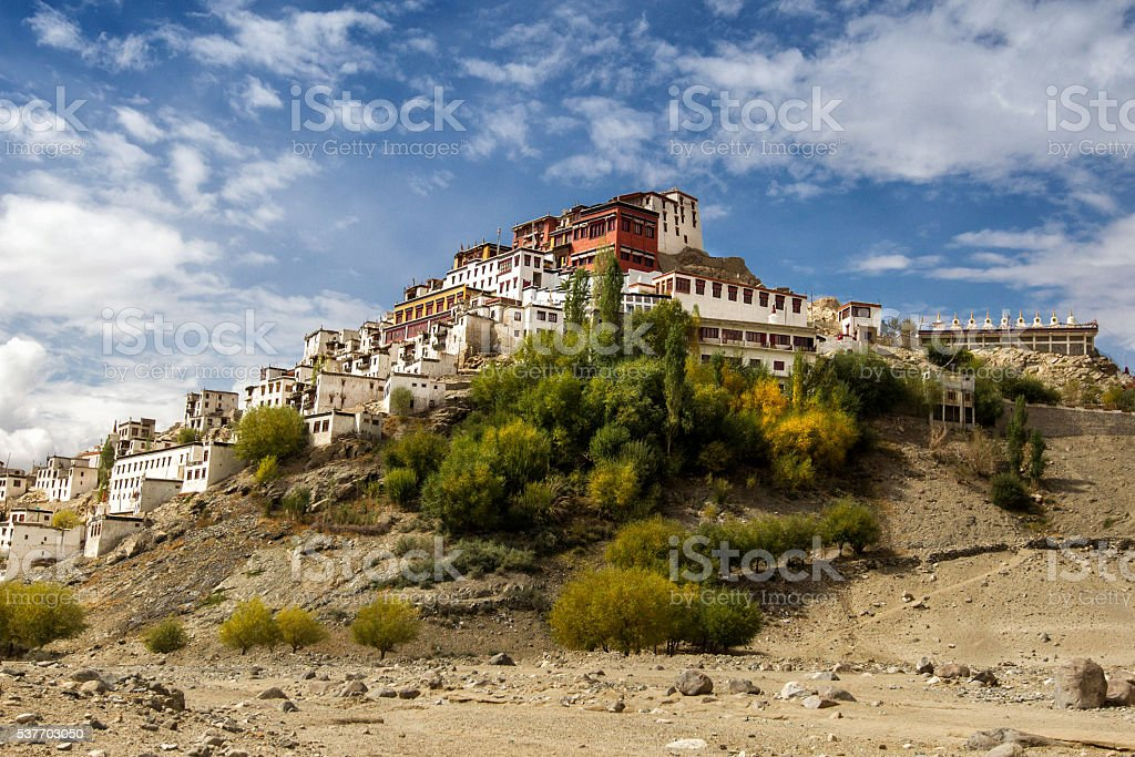 Thiksey monastery(Thikse Gompa) Leh, India stock photo