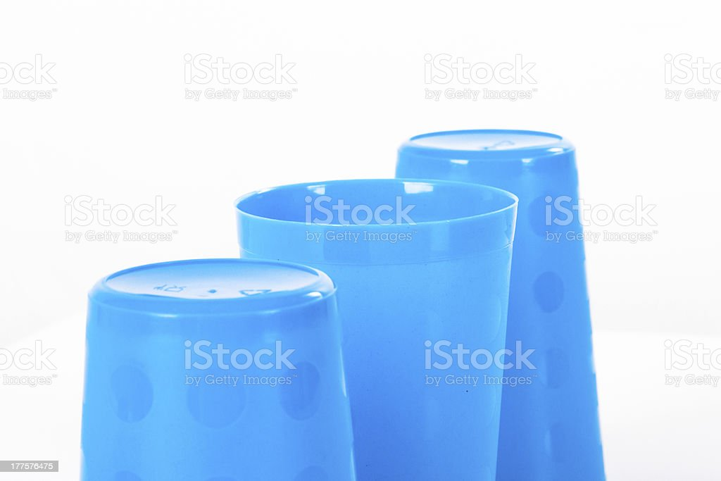 Thimblerig with Three Glasses royalty-free stock photo