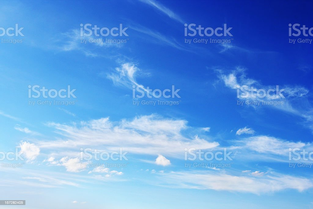 Thin Clouds in the Blue Sky royalty-free stock photo