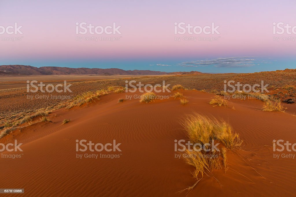 Thin clouds on the horison stock photo