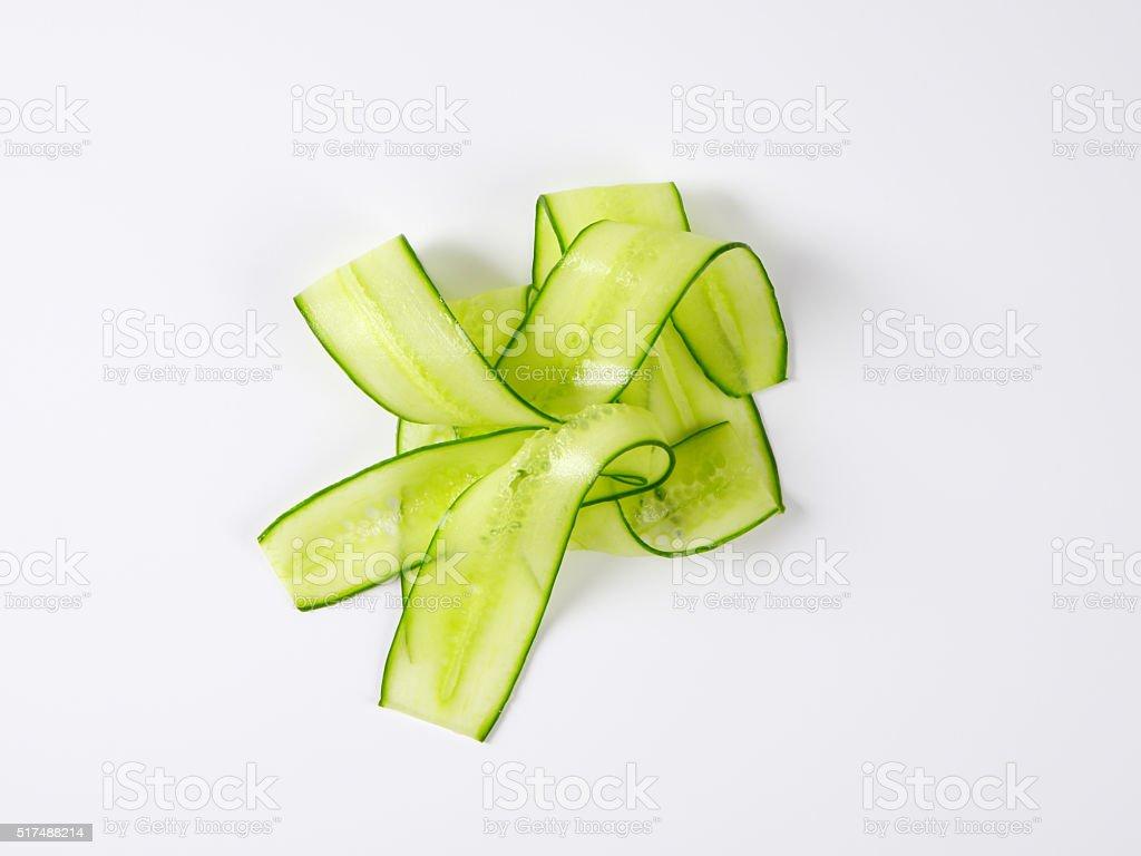 thin cucumber slices stock photo