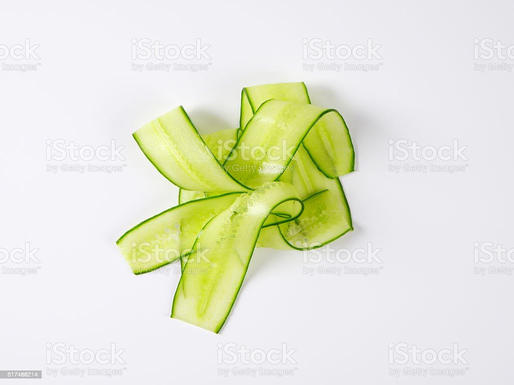 thin cucumber slices stock photo