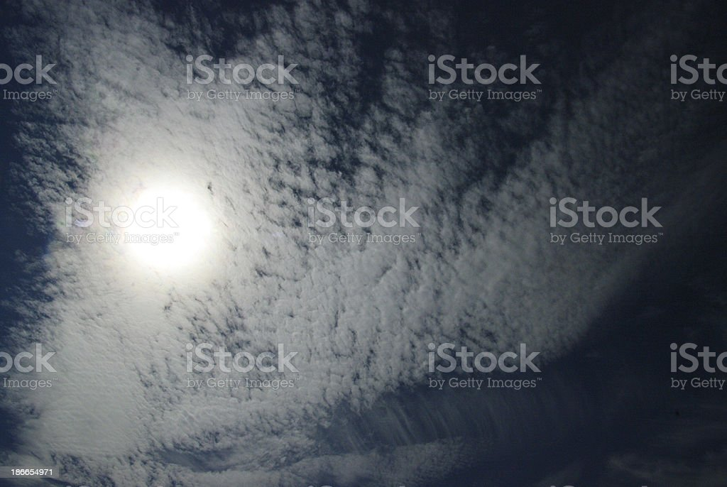 Thin High clouding in the sky royalty-free stock photo