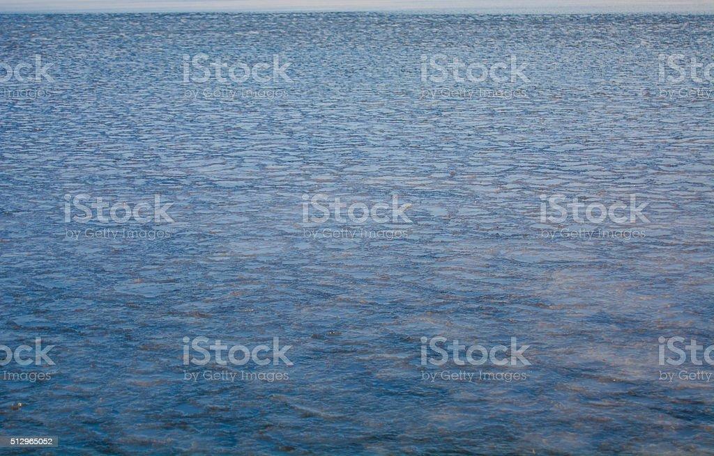 Fines glace sur la mer photo libre de droits