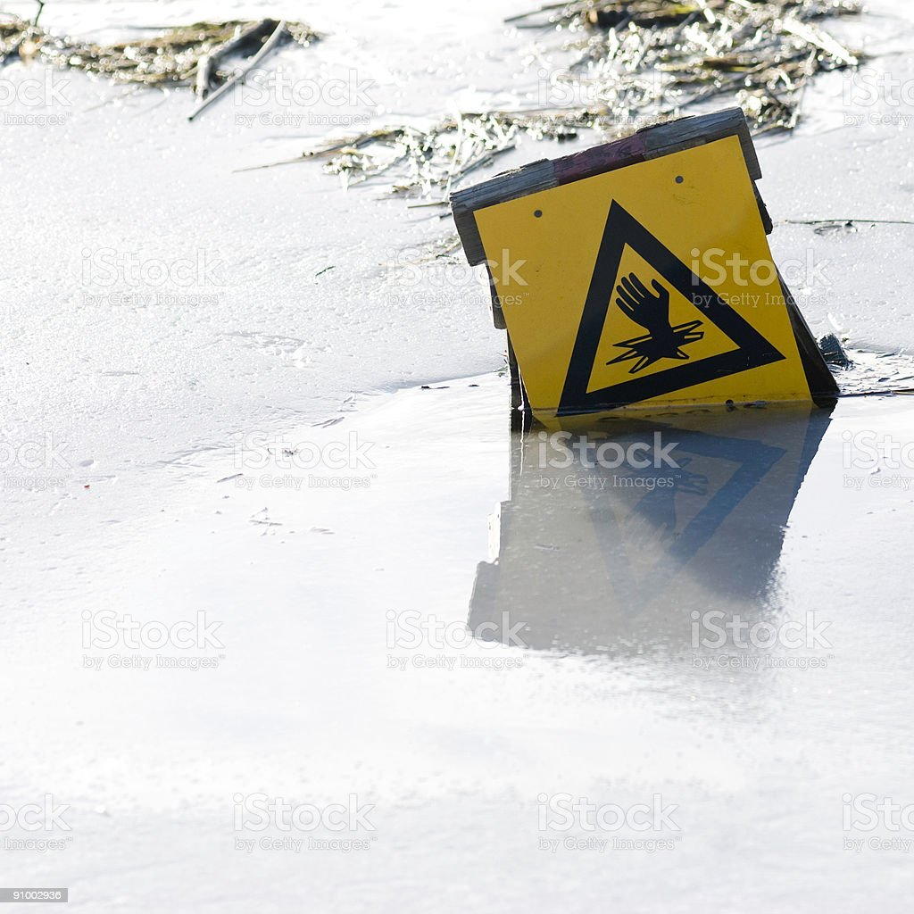 Thin ice royalty-free stock photo