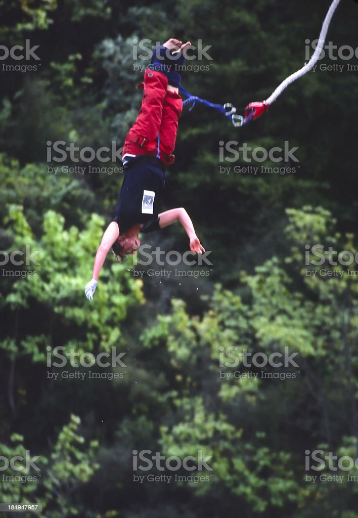 Thin line between terror and excitement stock photo