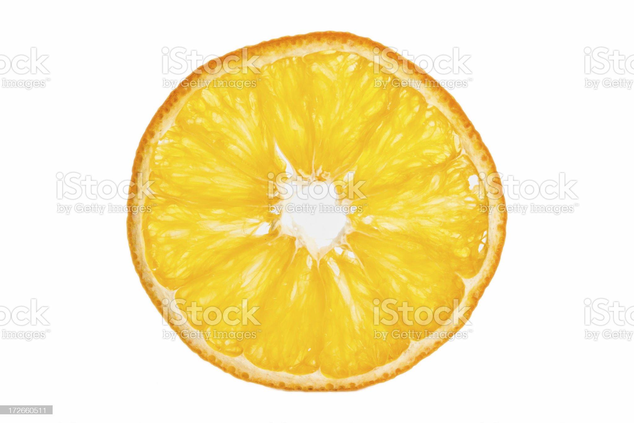 Thin orange slice royalty-free stock photo