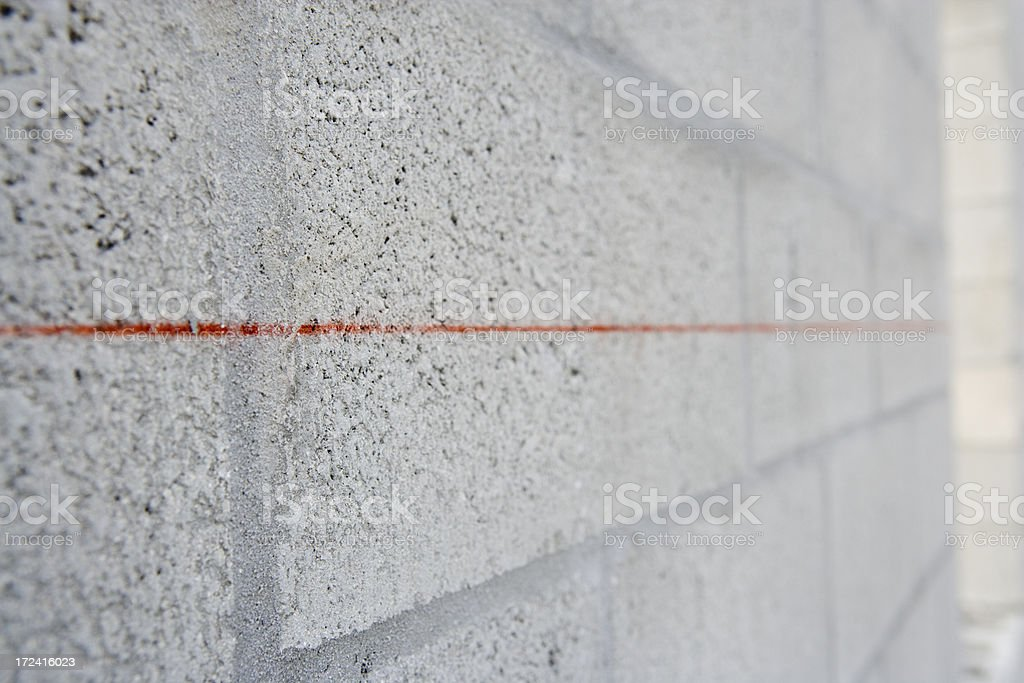 Thin Red Line stock photo