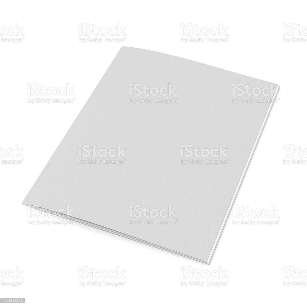 thin standard size catalog or magazine stock photo