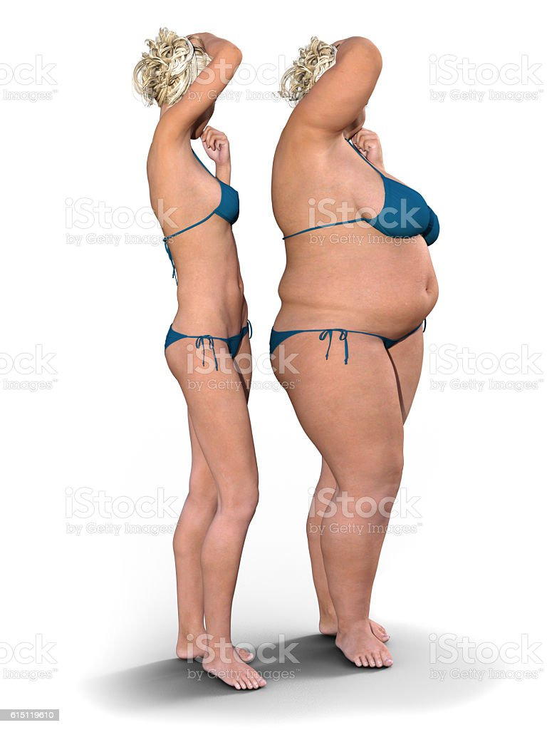 Thin versus Fat stock photo