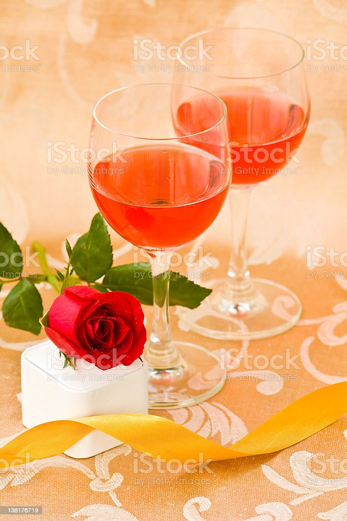 Things in the celebration for lover royalty-free stock photo