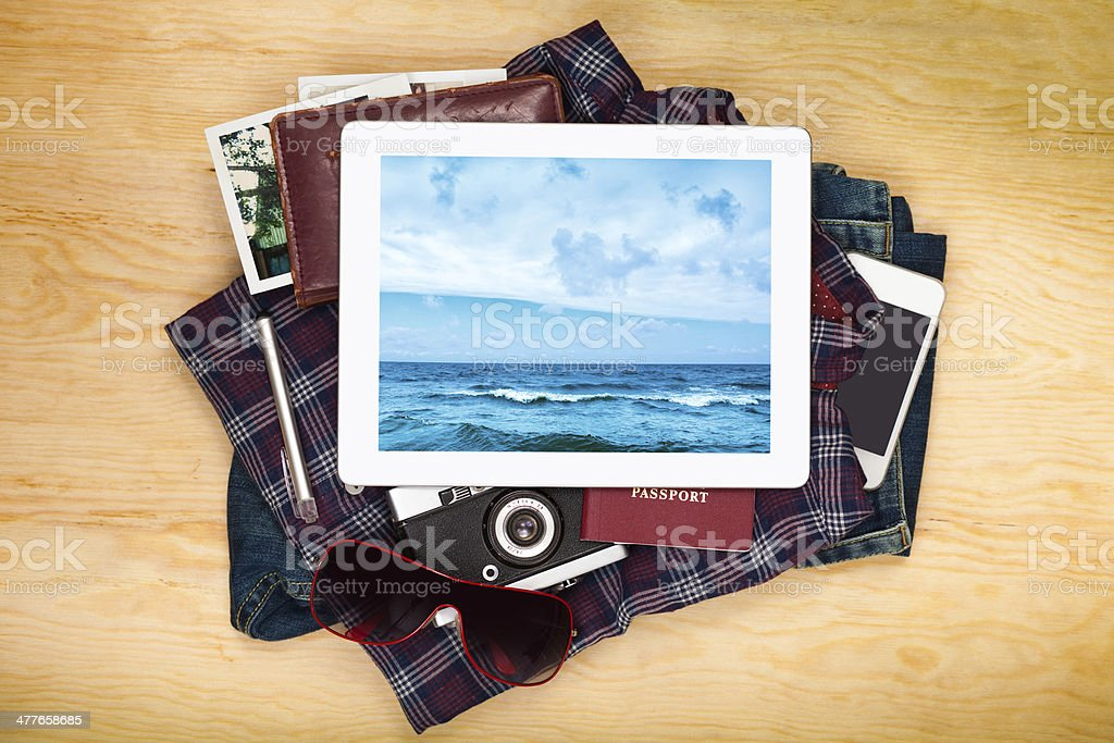 Things in travel royalty-free stock photo