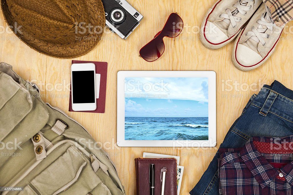 Things in travel stock photo