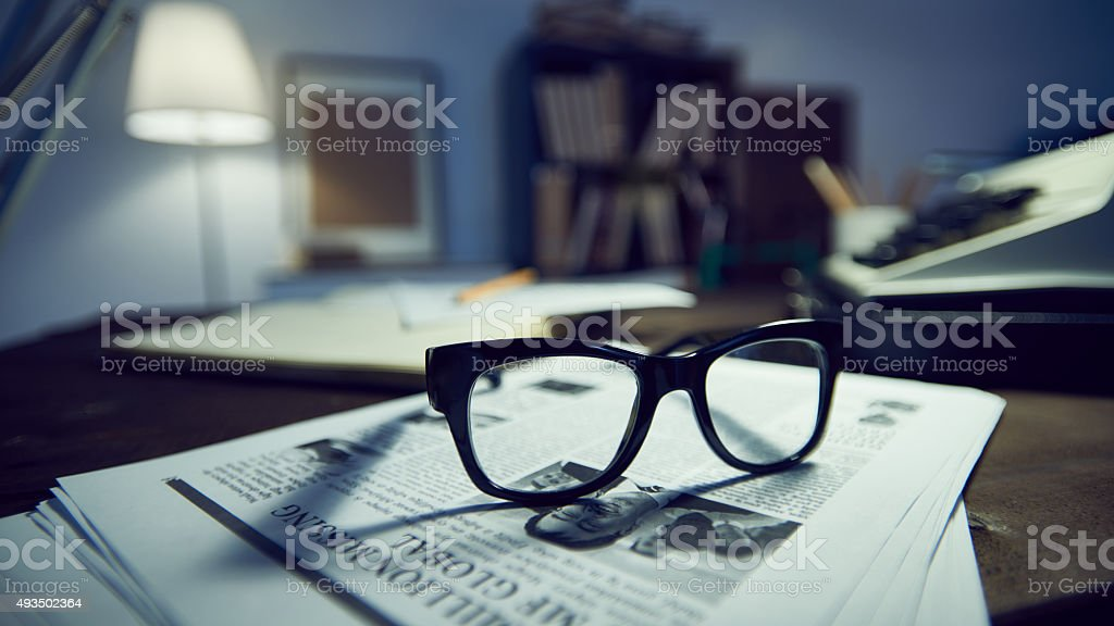 Things of investigator stock photo