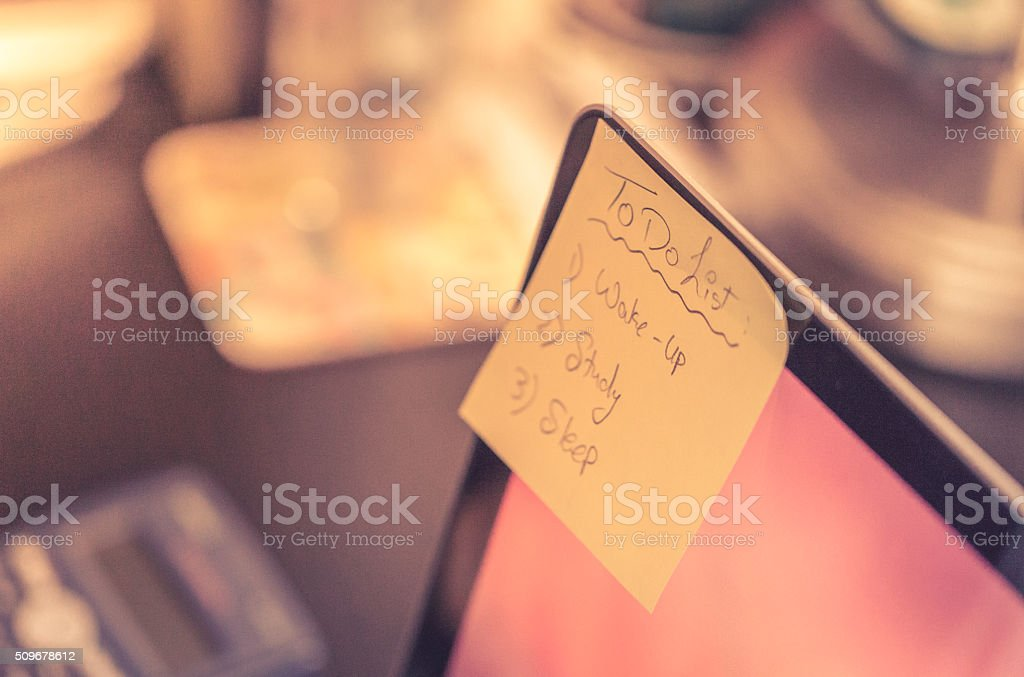 Things To Do List stock photo