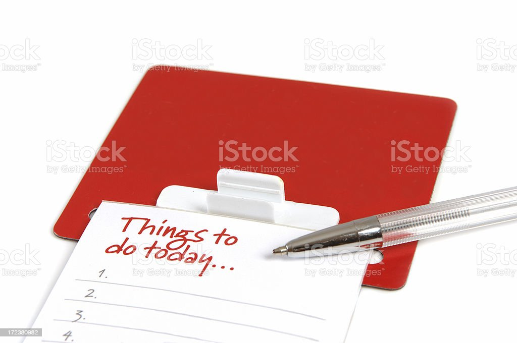 Things to do today royalty-free stock photo