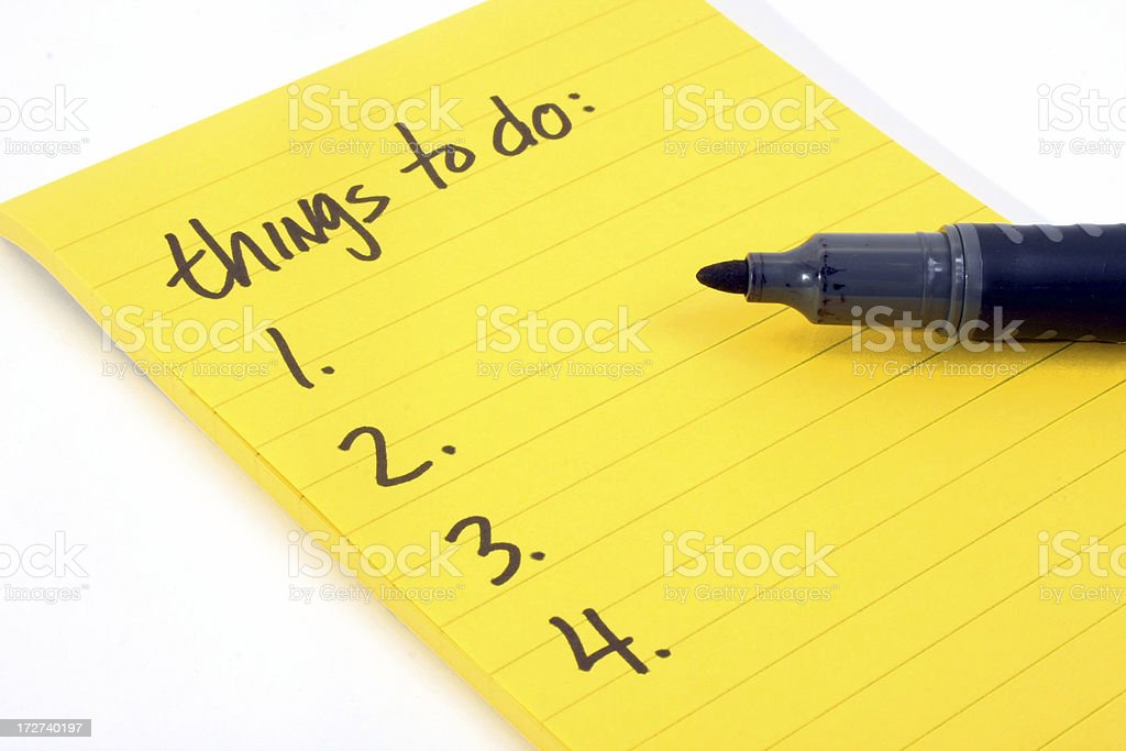 Things-to-do list royalty-free stock photo