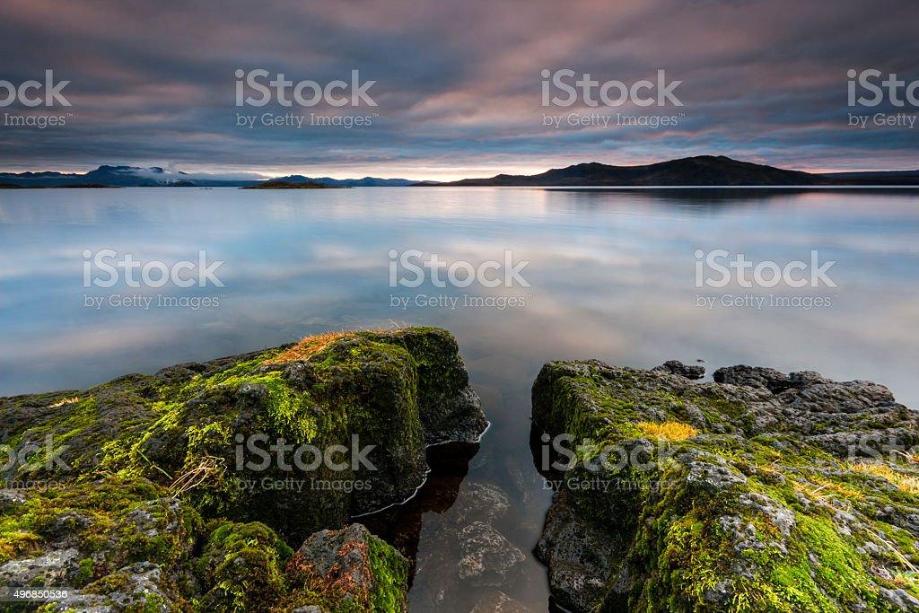 Thingvallavatn near Thingvellir National Park in Iceland stock photo