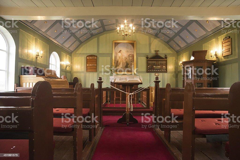 Thingvellir church royalty-free stock photo