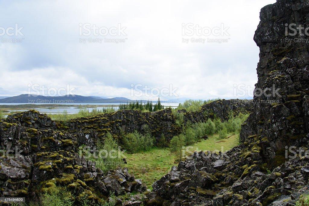 Thingvellir, Grabenbruch, Island royalty-free stock photo