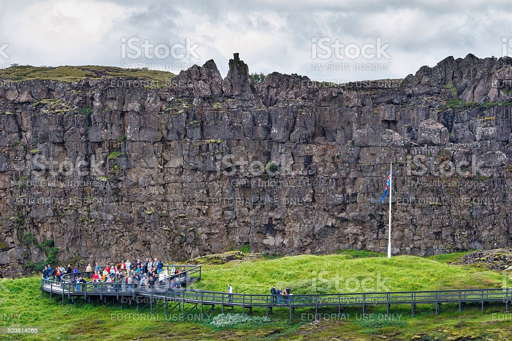 Thingvellir, Iceland - July 20, 2014 stock photo