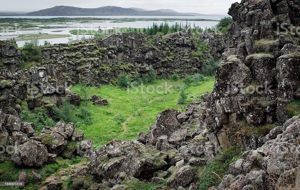 Thingvellir Iceland Landscape stock photo